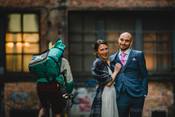 Urban wedding photography • Botanical meets grungy
