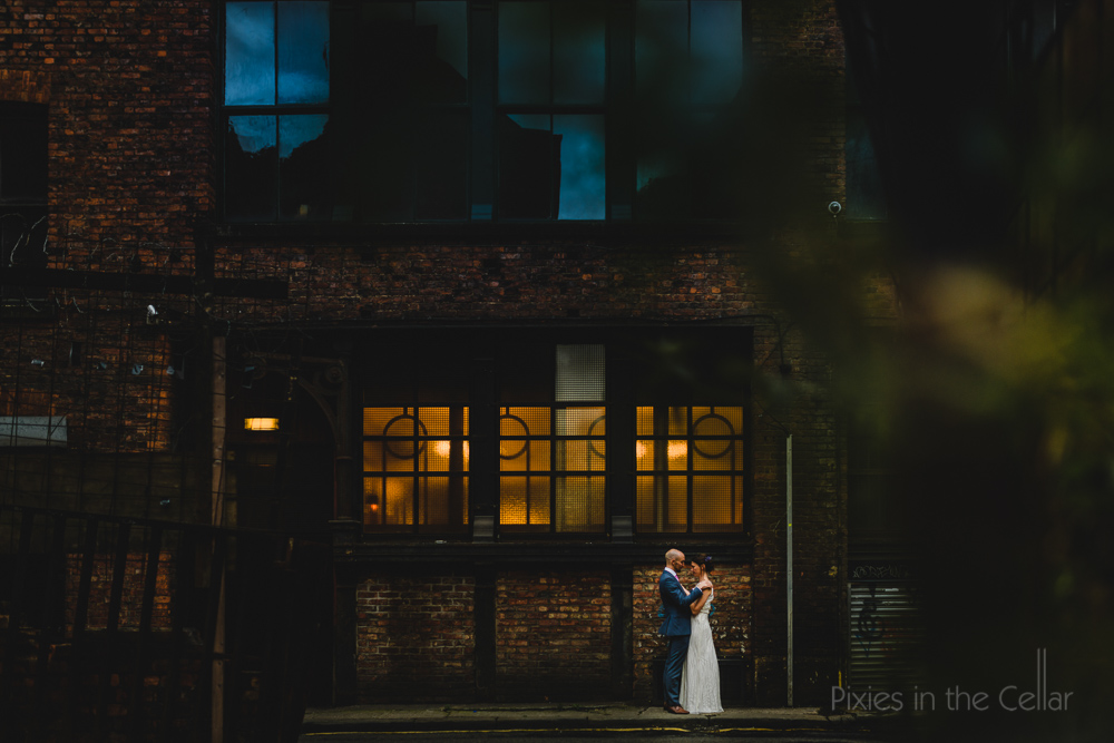 Pixies in the Cellar Manchester wedding couple