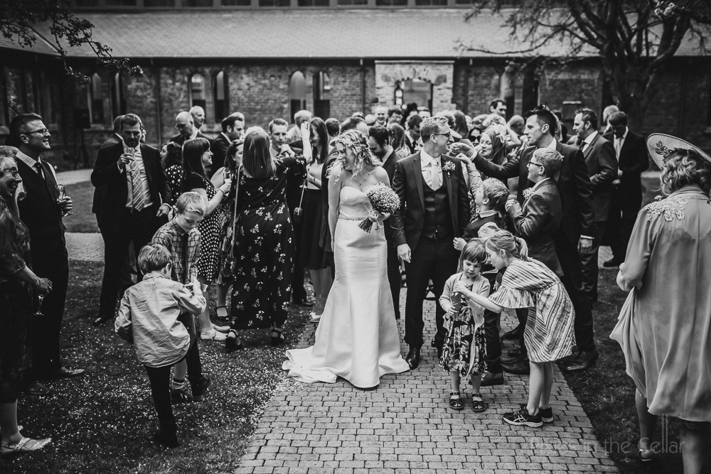 black and white wedding photo story telling