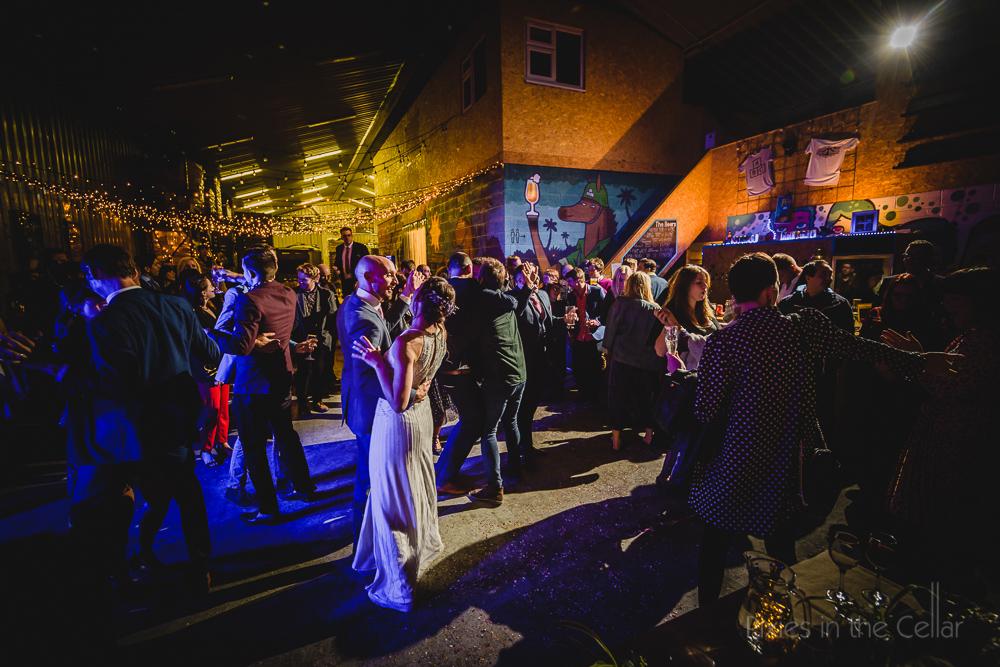urban Manchester wedding party
