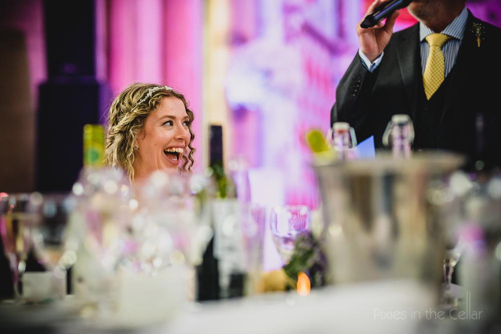 Manchester wedding speeches bride