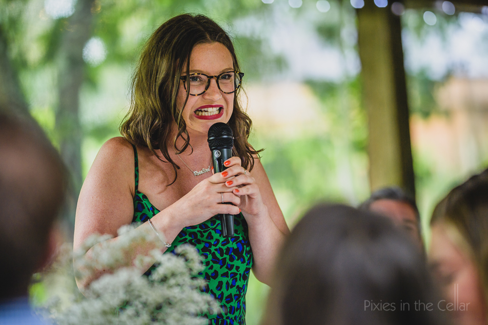 wedding speeches with microphone