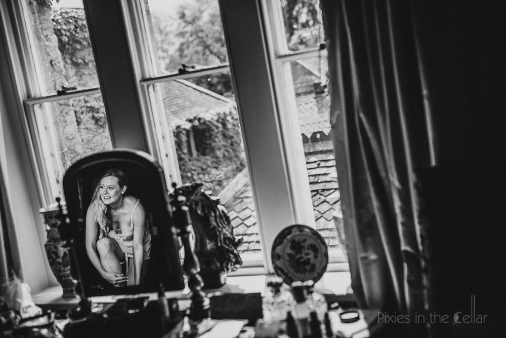 Maunsel House wedding photography reflections