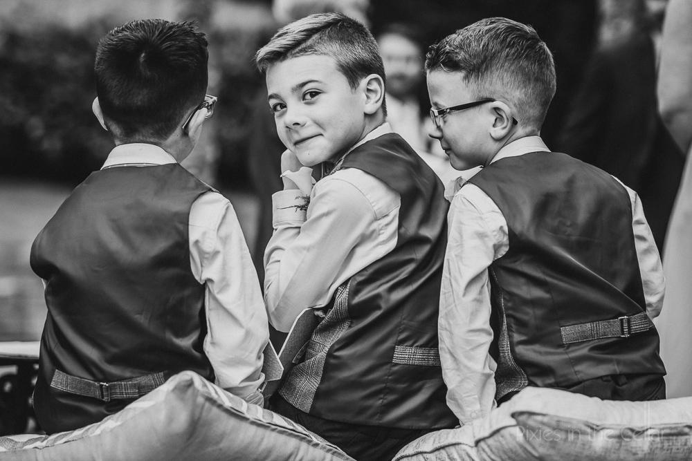 kids at weddings outdoor ceremony