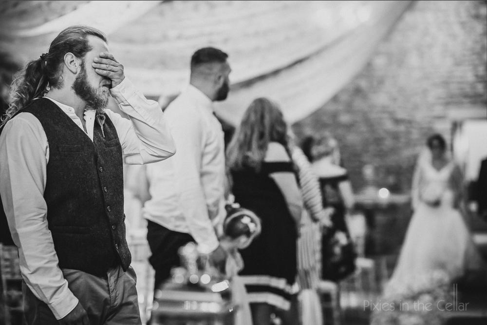 emotional groom photo