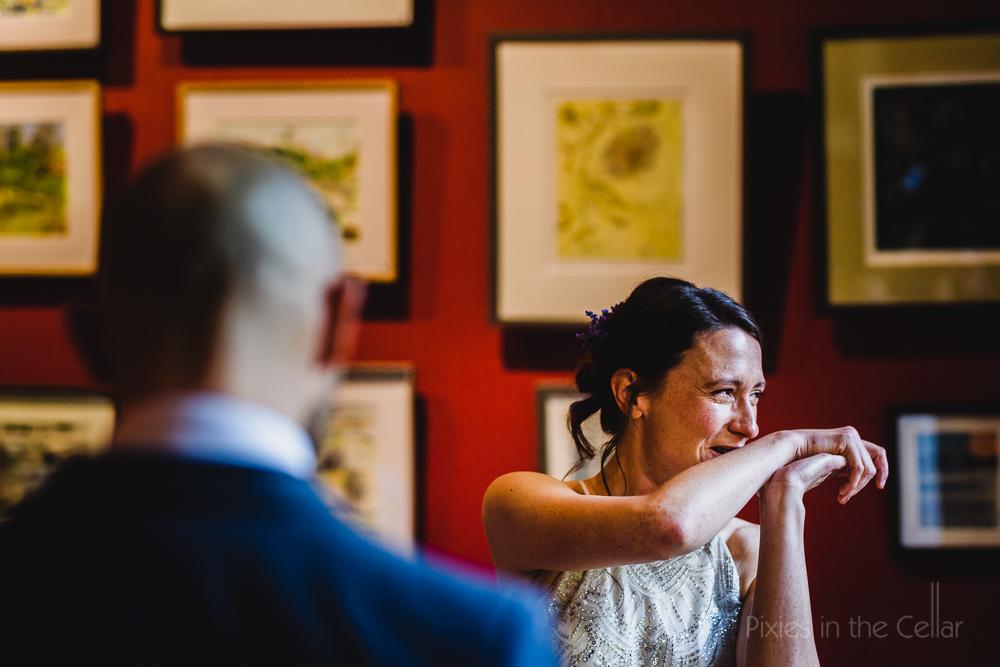Emotional wedding ceremony photo