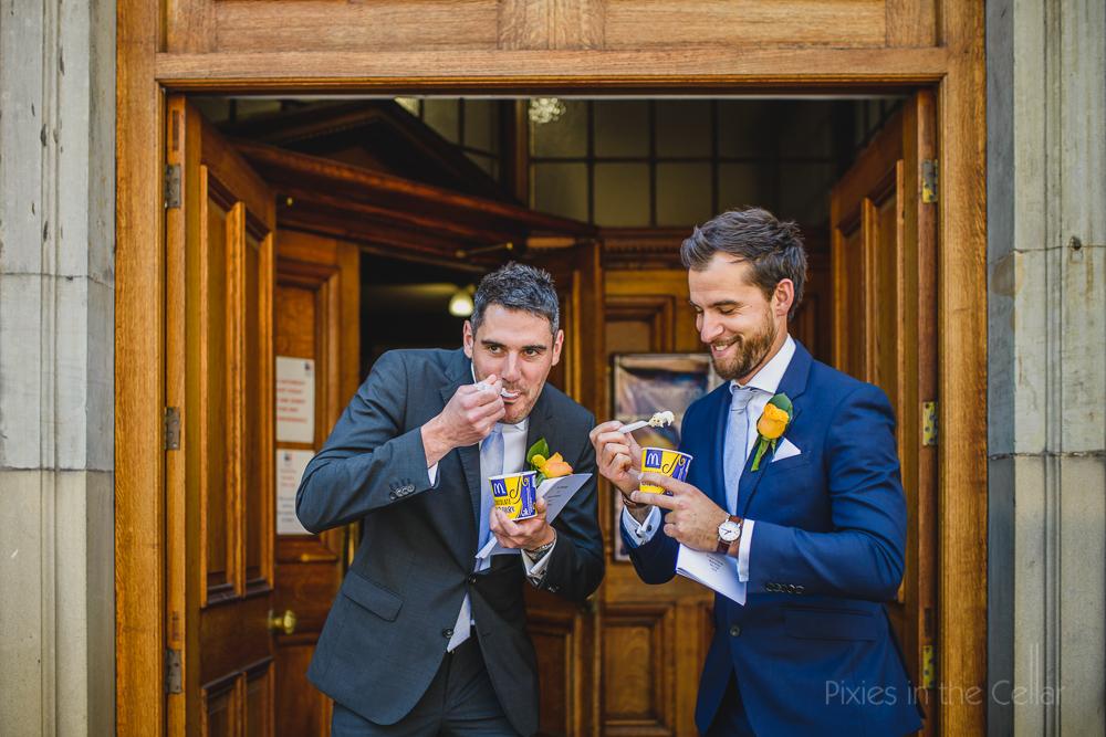 Wedding McFlurry Macdonalds Uk wedding groomsmen