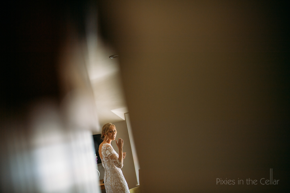 bride framed embroidered dress