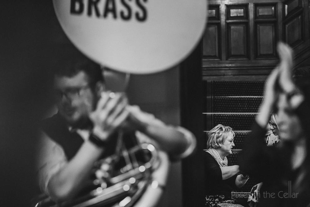 back chat brass wedding band