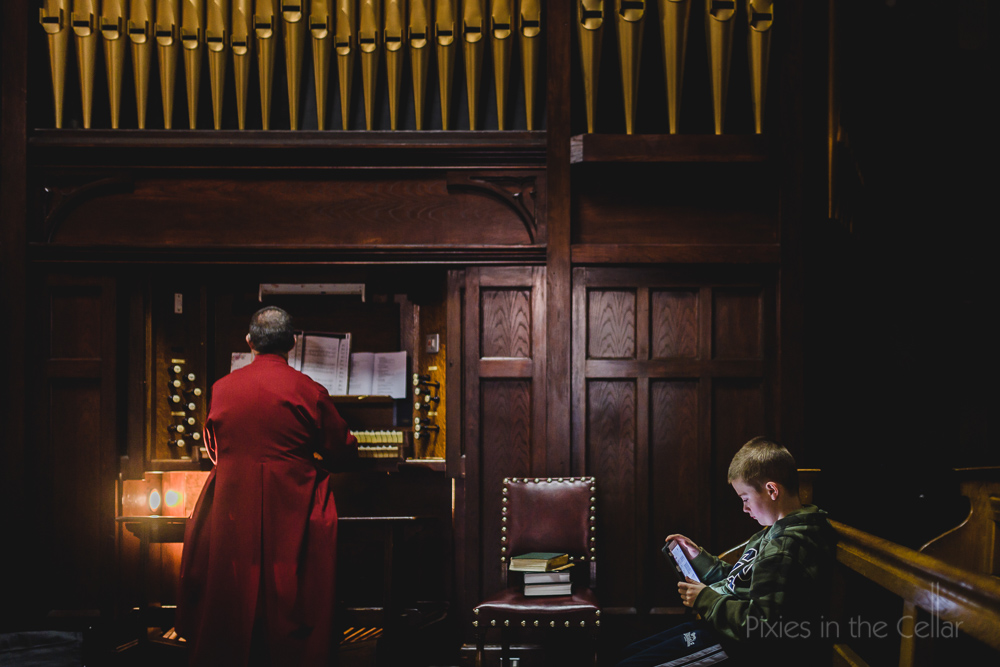 organist and iPad boy
