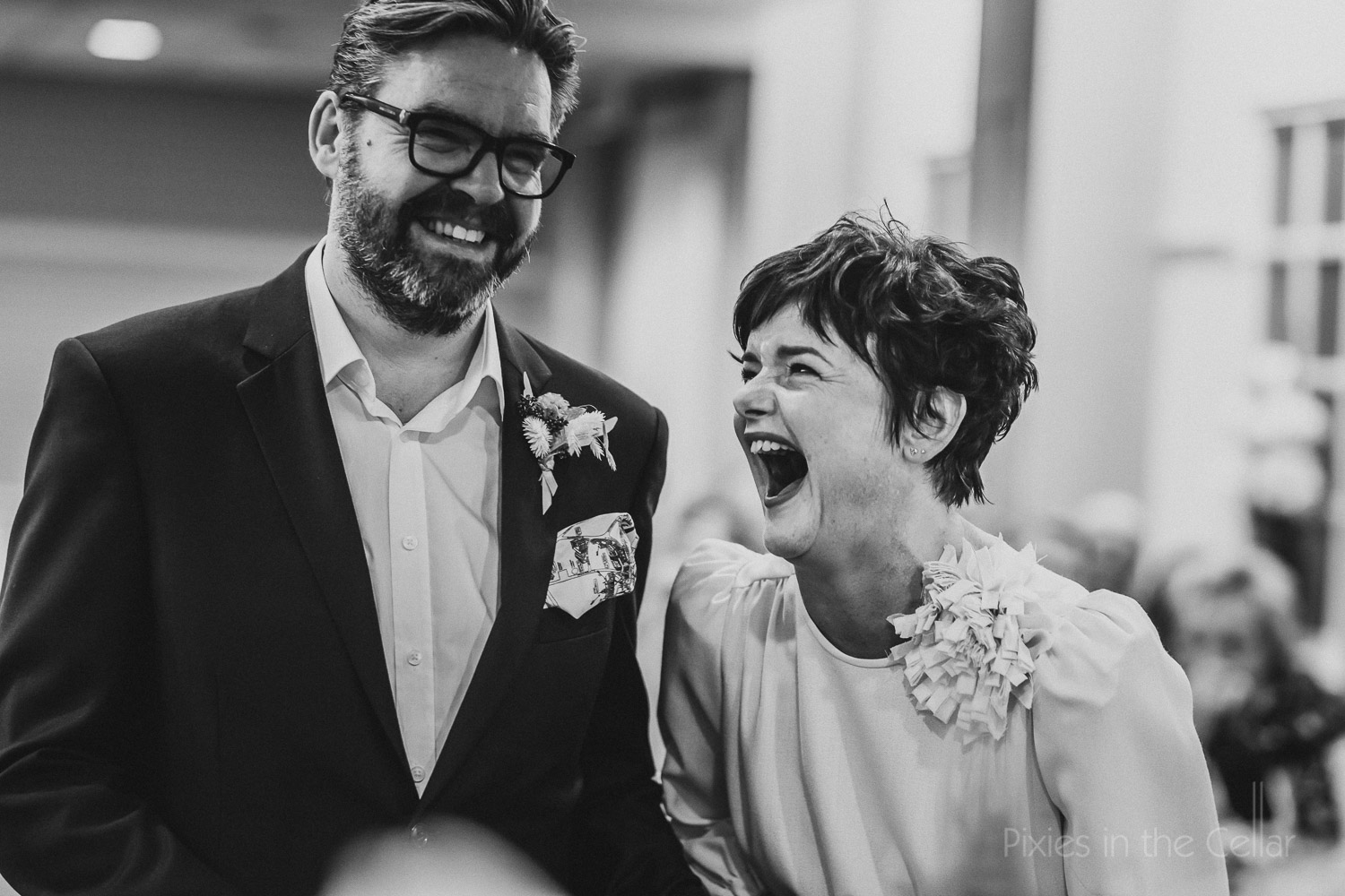 favourite wedding photos real laughs Manchester couple