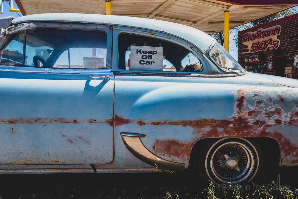 Classic cars seliman route 66 blue
