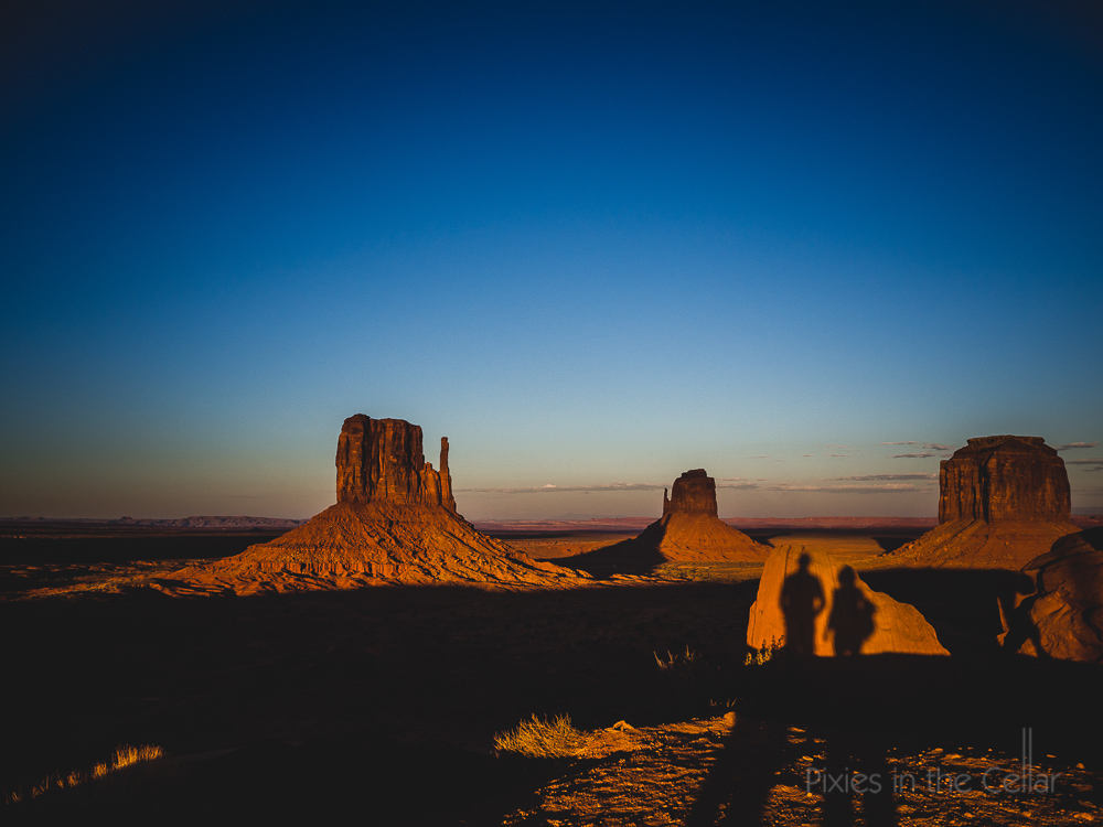 Monument valley sunset selfie