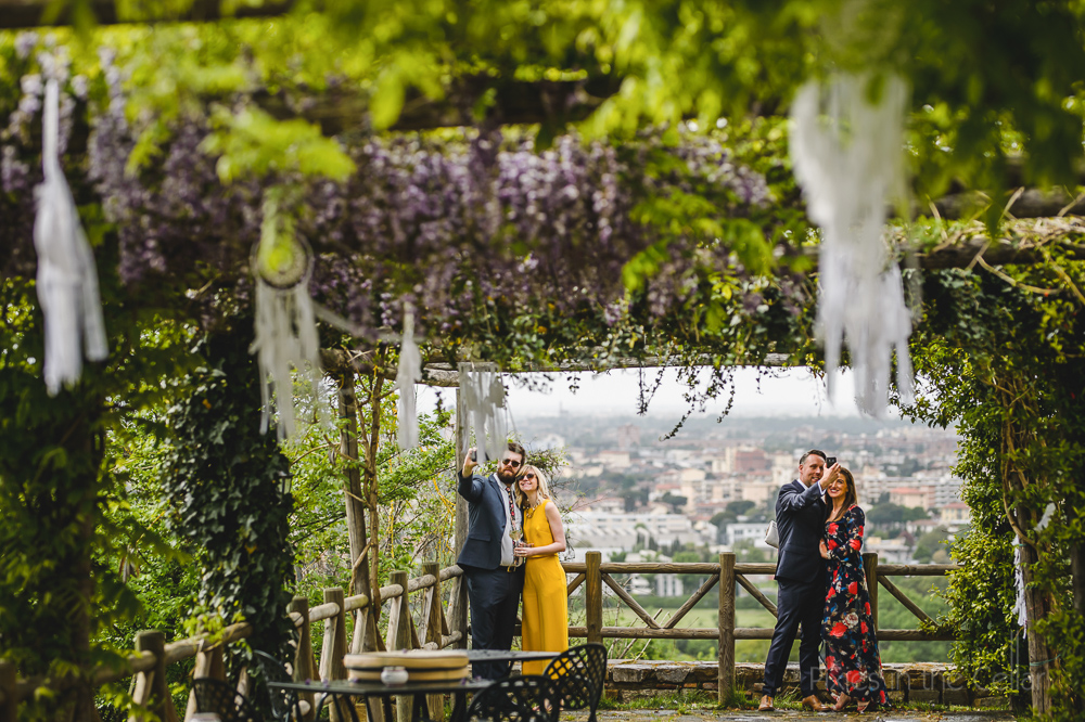 wedding selfies destination wedding in florence