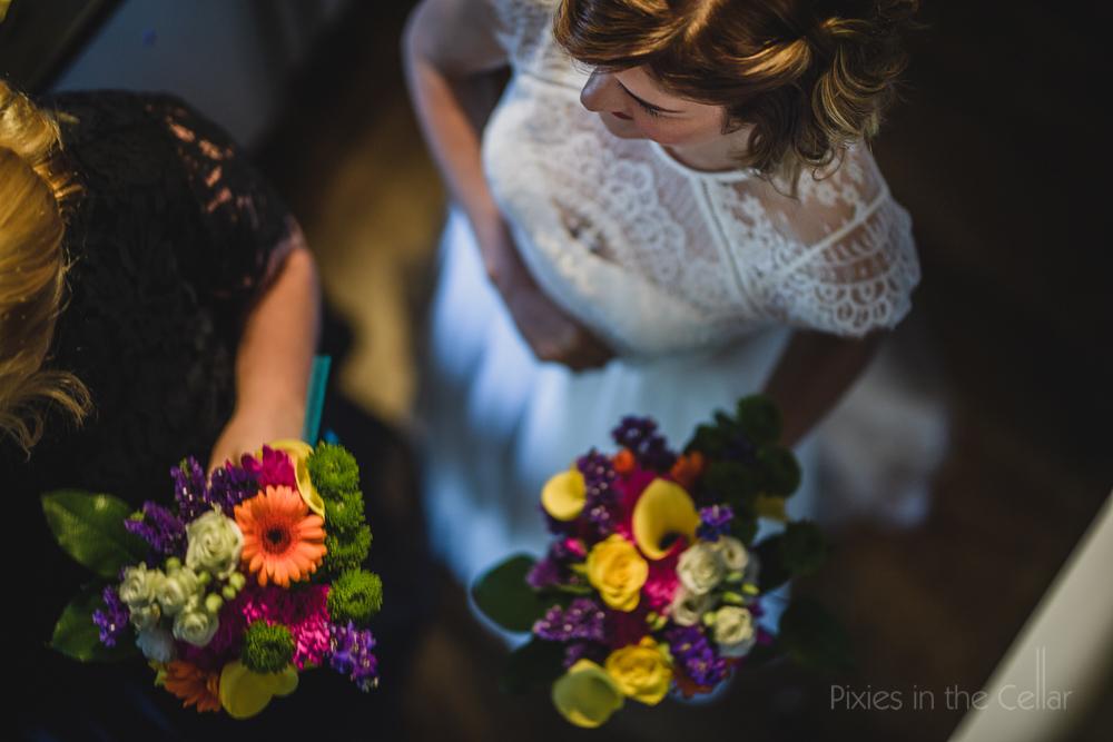 colourful wedding flowers gerbera