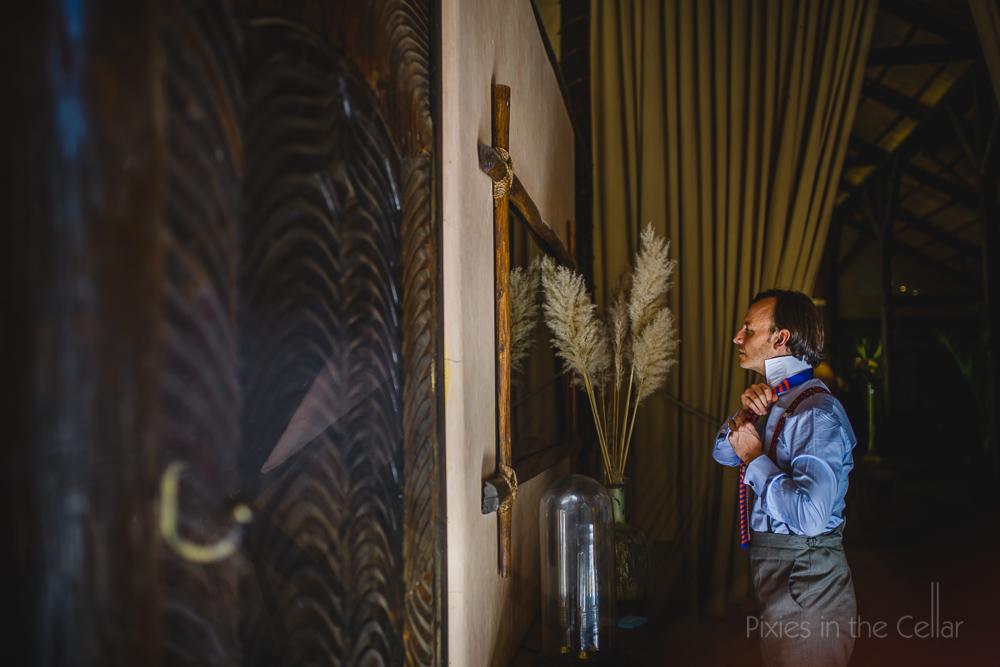 destination wedding groom preparations la pailotte