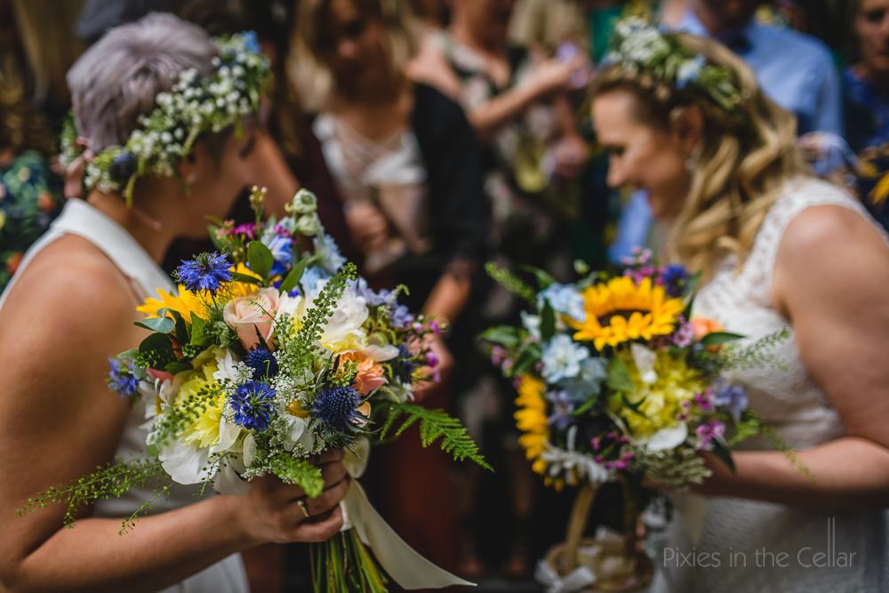 rustic wedding flowers city centre
