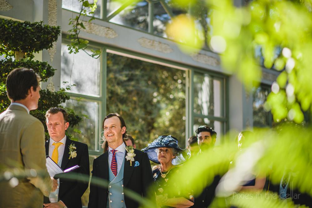 outdoor feel wedding ceremony