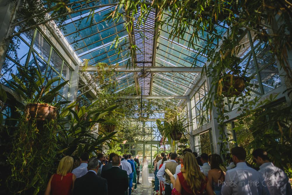greenhouse wedding orangery ceremony conservatory