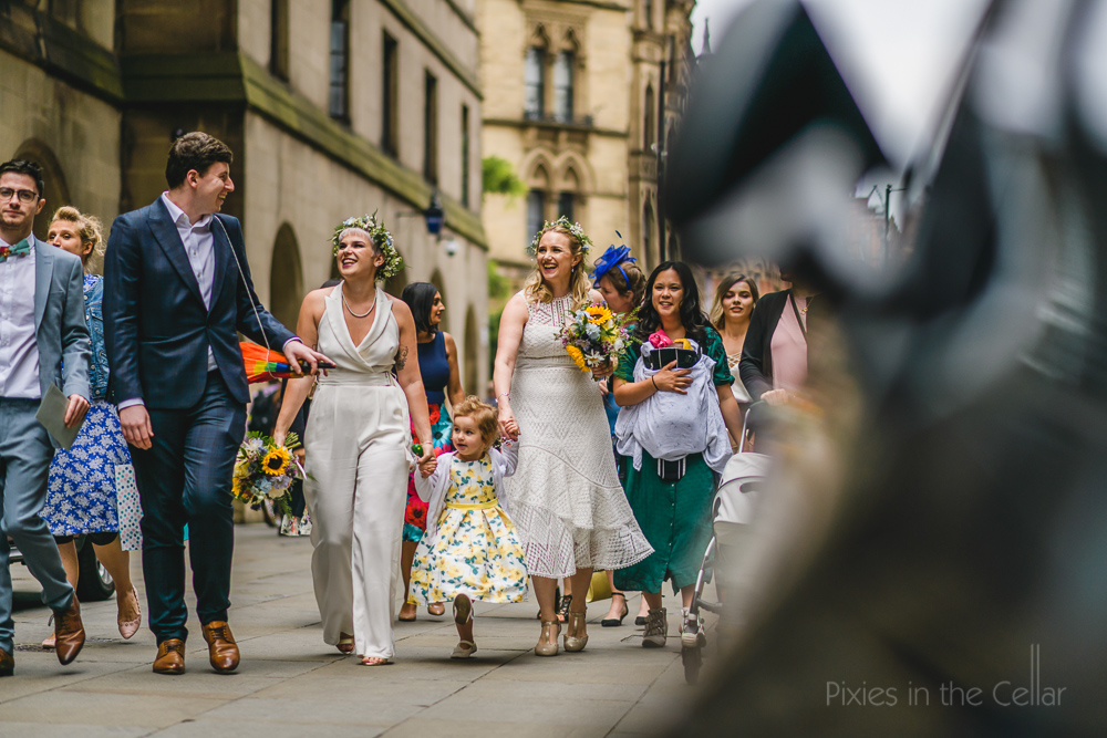 boho brides manchester city centre wedding