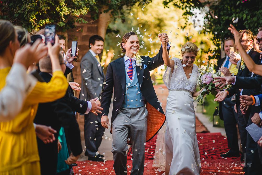 Beldi Country Club wedding photography confetti