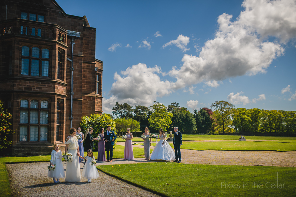 Thornton Manor bridal arrival
