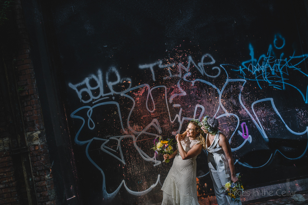 alternative city centre wedding photos