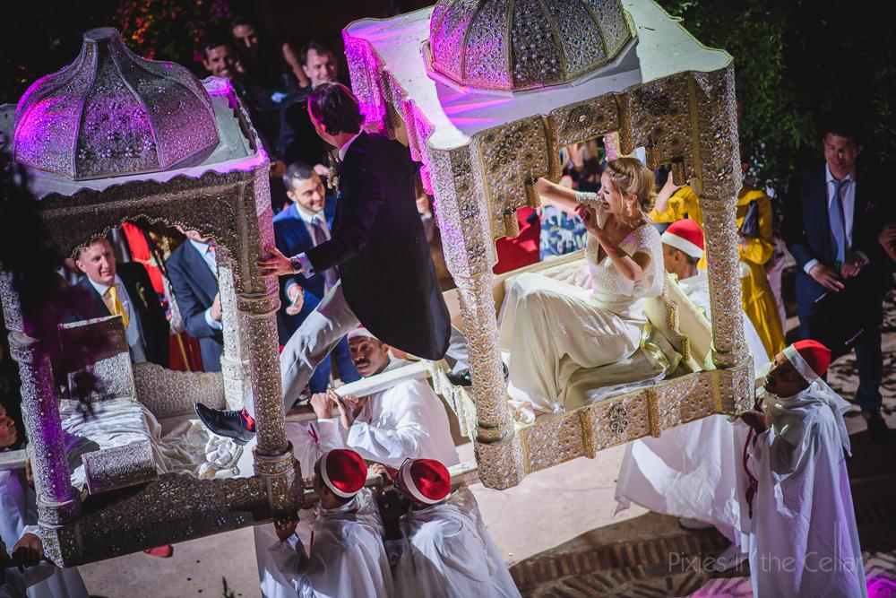 Moroccan wedding arrival