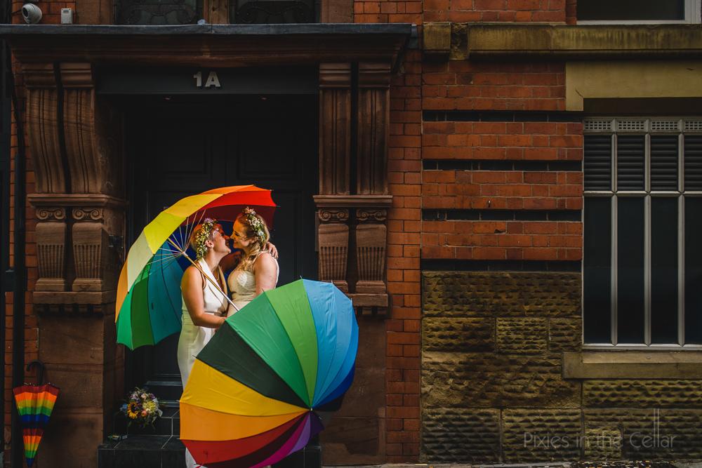 boho brides colourful wedding manchester
