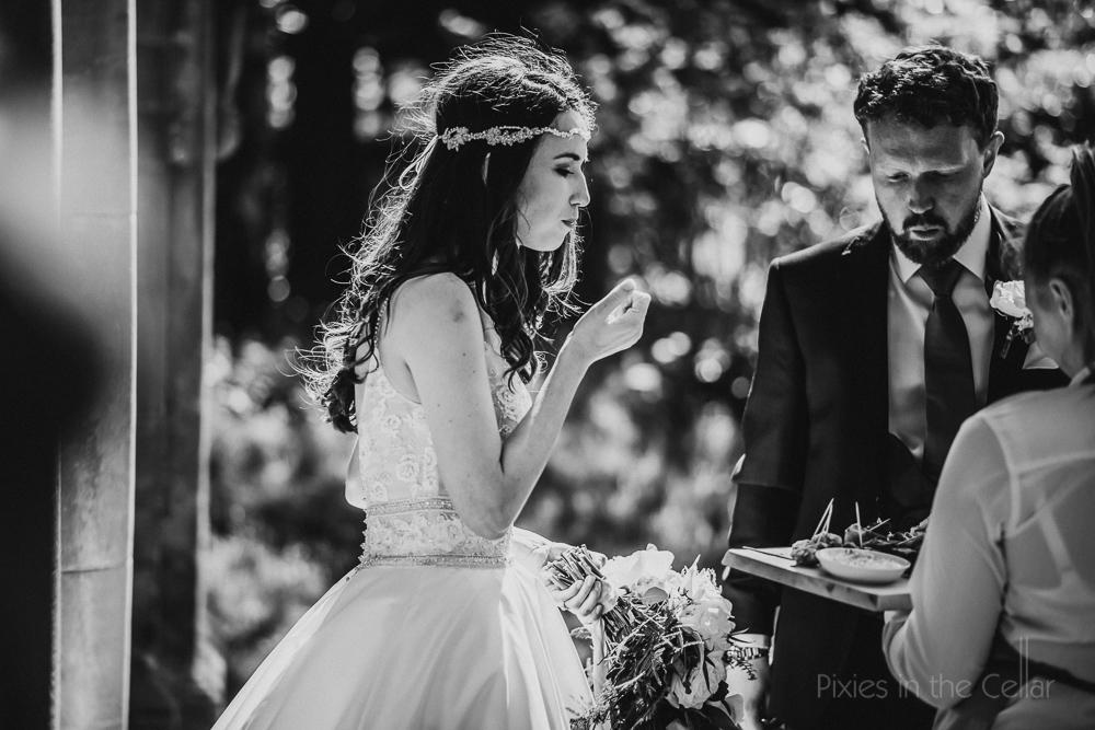 canapés bride groom