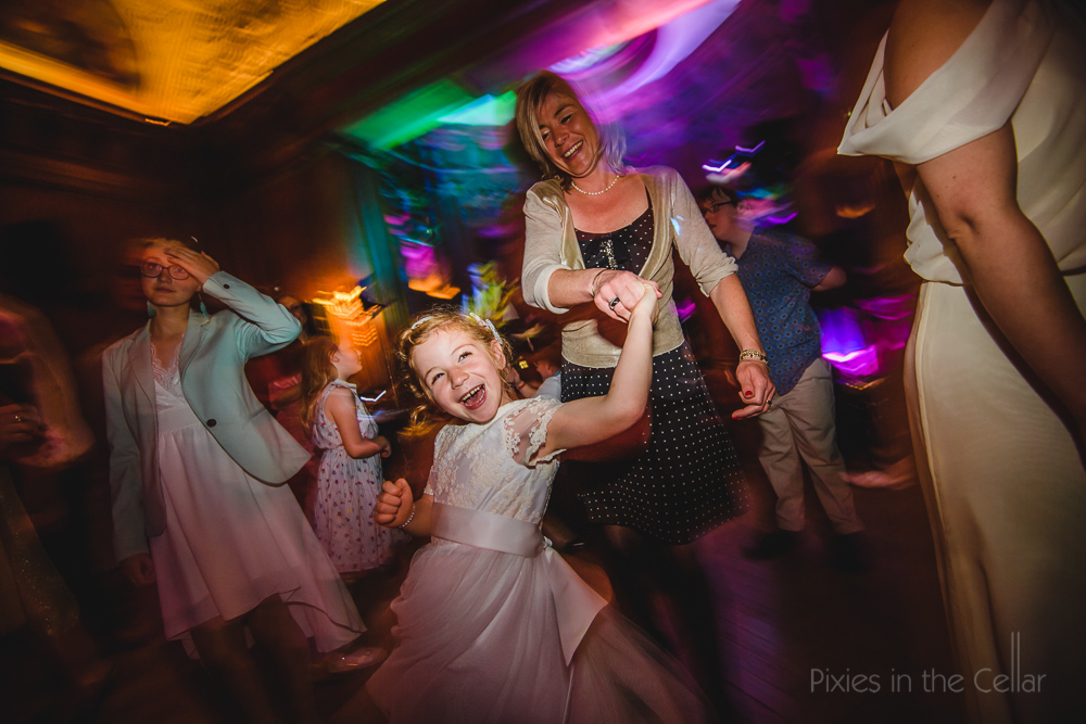 flower girl wedding disco