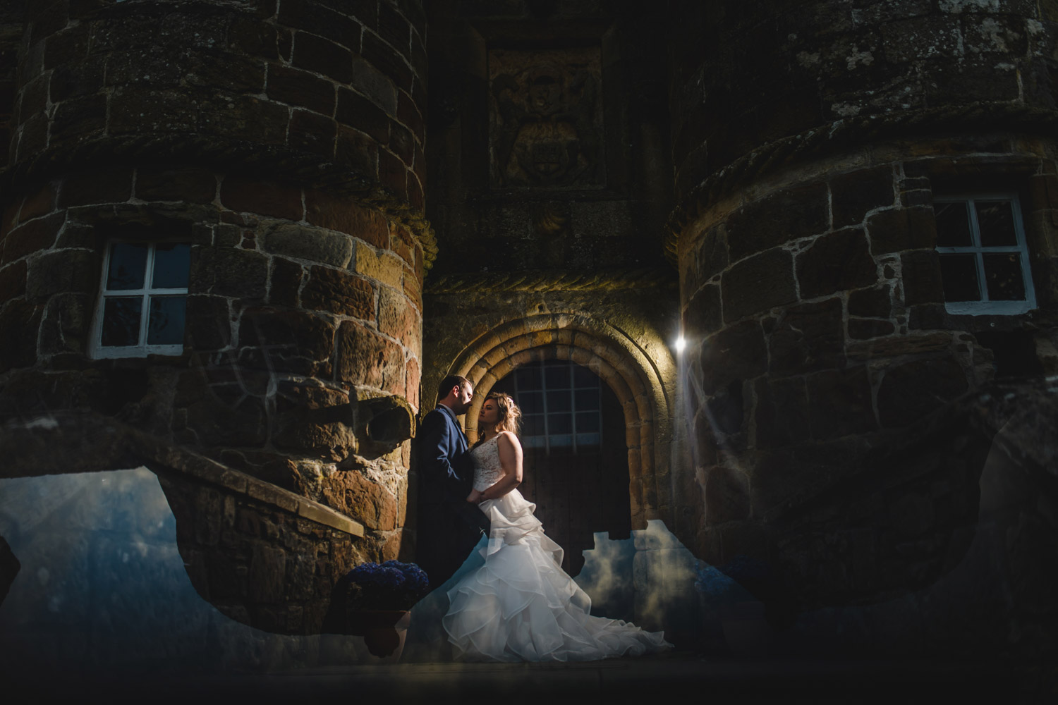 Scottish castle wedding fairy tale bride