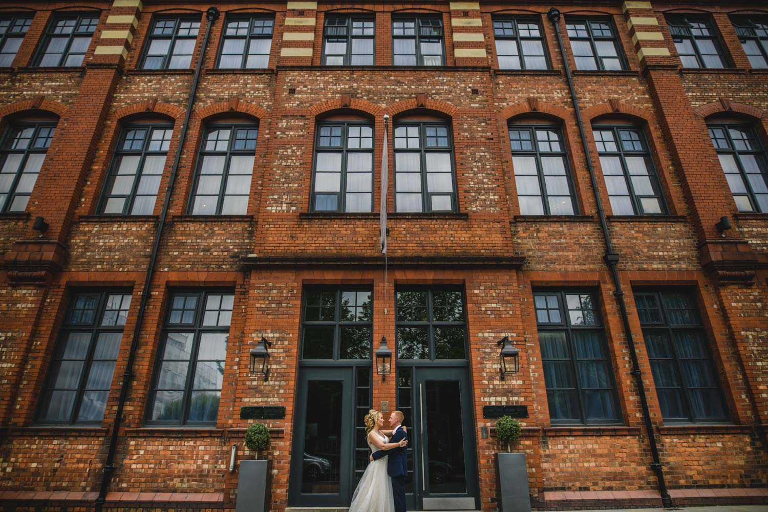 architectural wedding photography bricks