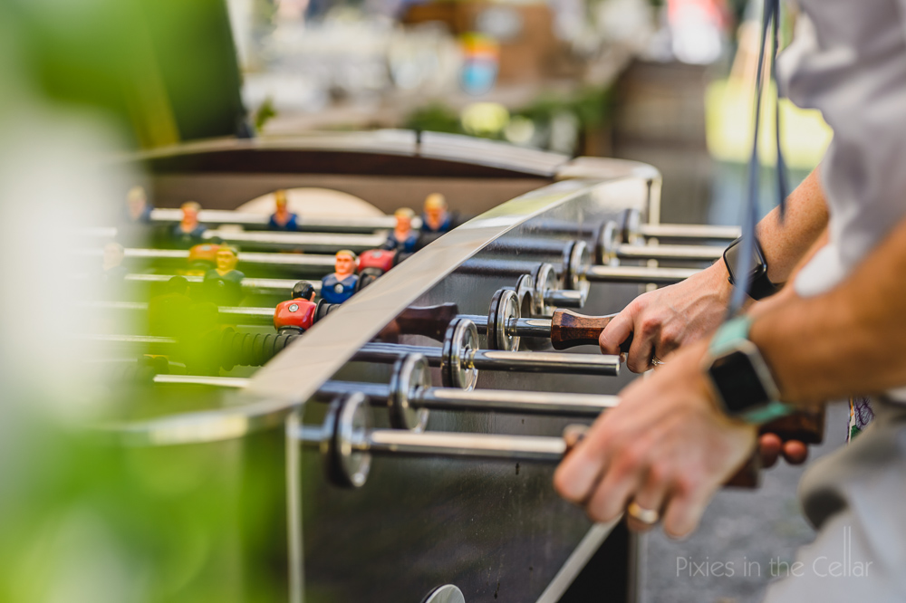 table football wedding games relaxed fun