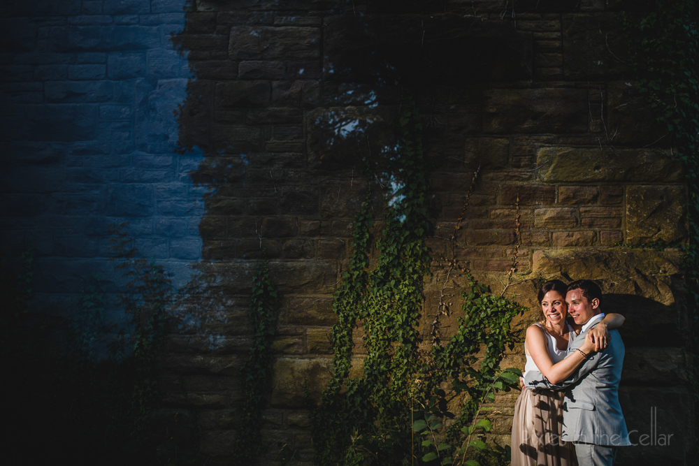 gritty countryside wedding photos