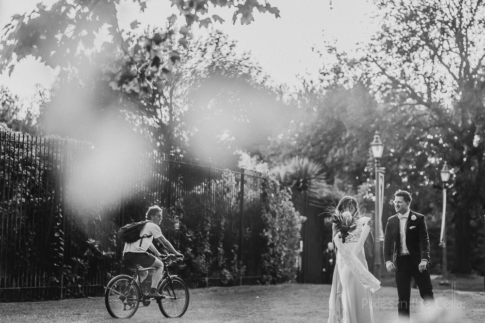 Park wedding documentary photography