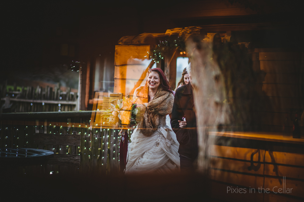 winter bride uk wedding photography