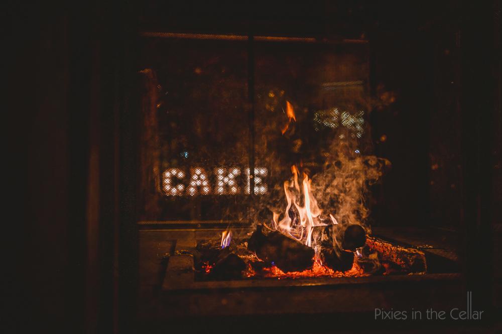 winter wedding fire pit