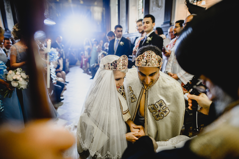 religious wedding ceremony egyptian coptic UK