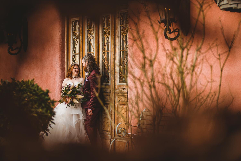 Northumberland wedding photo winter