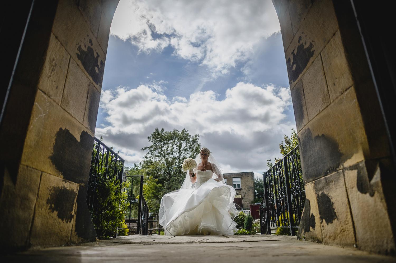 bride entering church Yorkshire