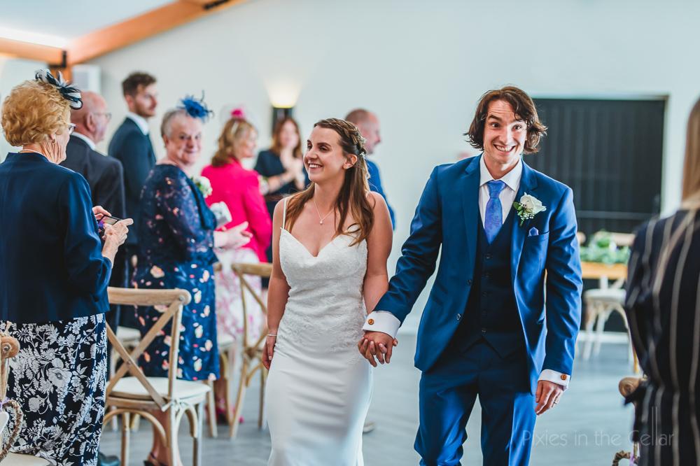 covid wedding Hanbury Wedding Barn photography