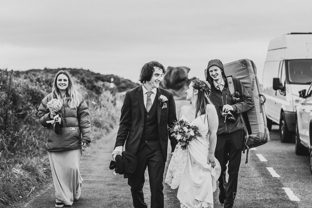 climbers wedding bouldering mat