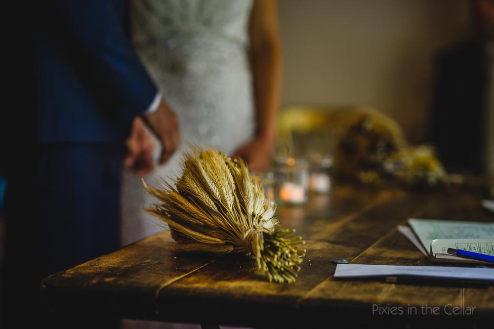 dried flower bouquet Peak District wedding