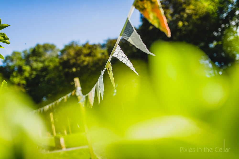summer wedding photography bunting