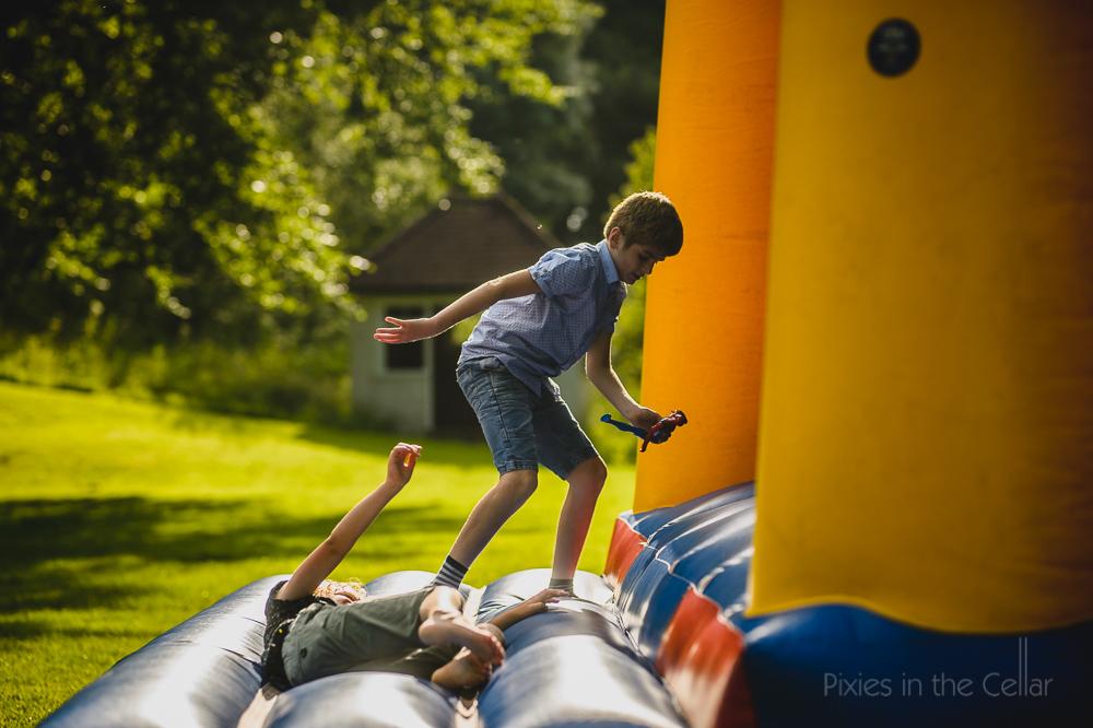 Peak District wedding bouncy castle