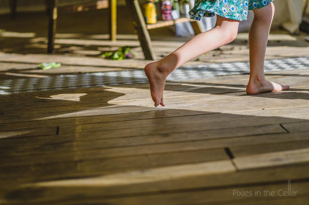 Children at weddings bare foot