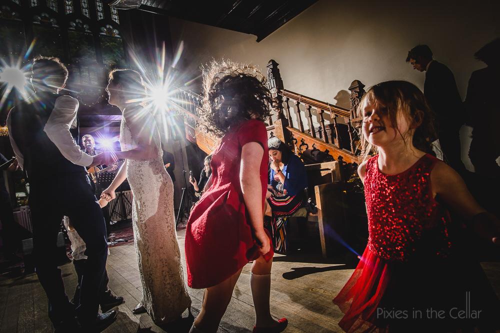 Hargate hall wedding dancing