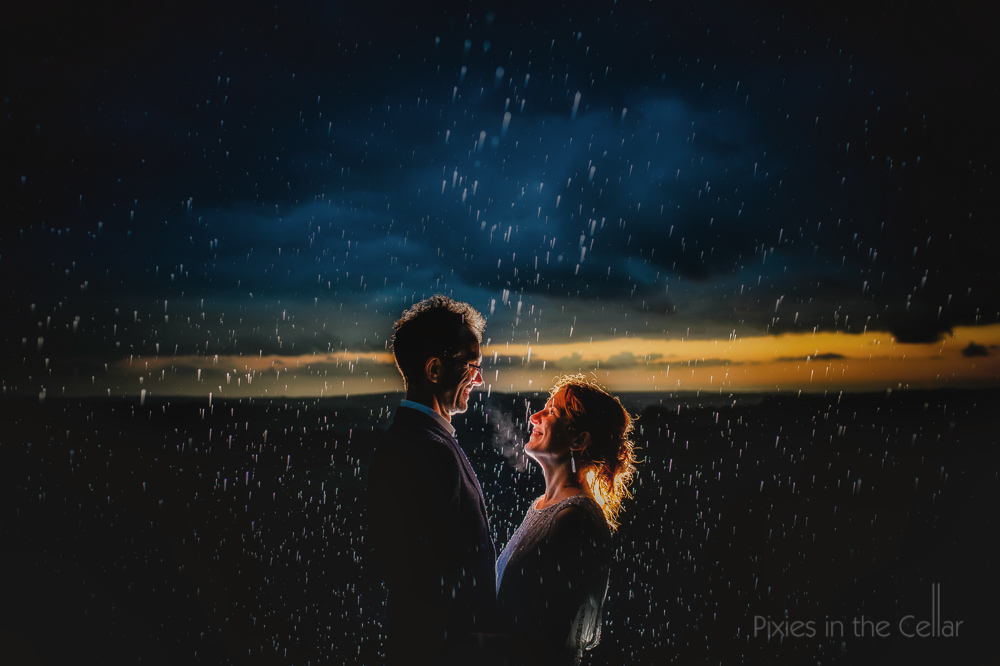 Rain Peak District wedding