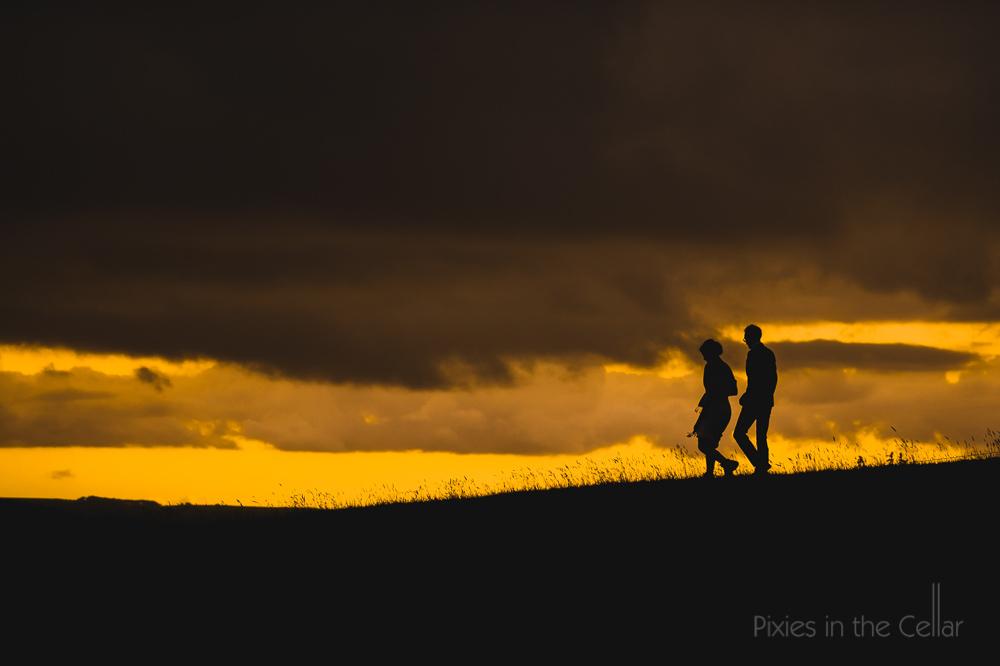 Peak District Wedding Sunset